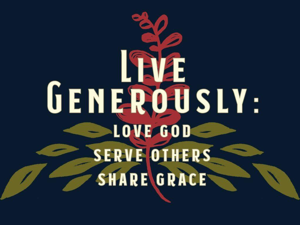 Live Generously - slide